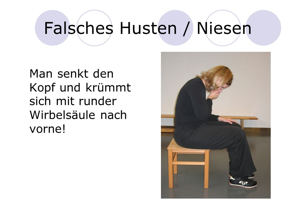 Falsches Husten / Niesen