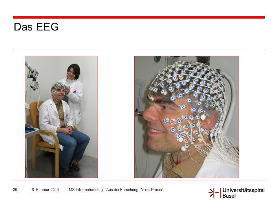 Das EEG 6. Februar 2010 MS-Informationstag: Aus der Forschung für die Praxis