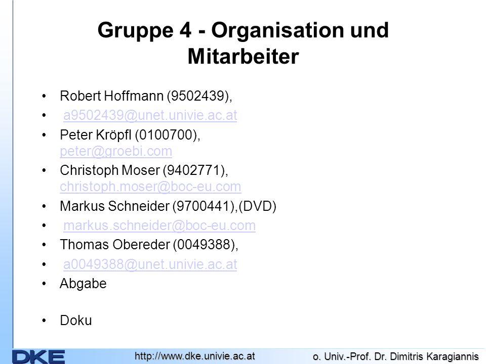 Gruppe 4 - Organisation und Mitarbeiter