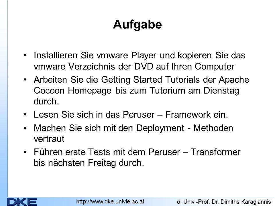 Aufgabe Installieren Sie vmware Player und kopieren Sie das vmware Verzeichnis der DVD auf Ihren Computer.