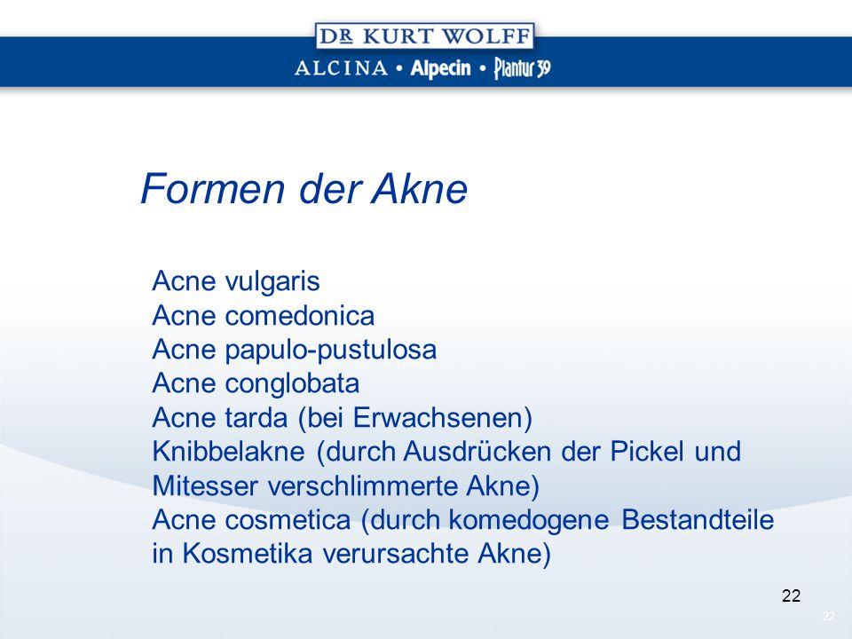 Formen der Akne