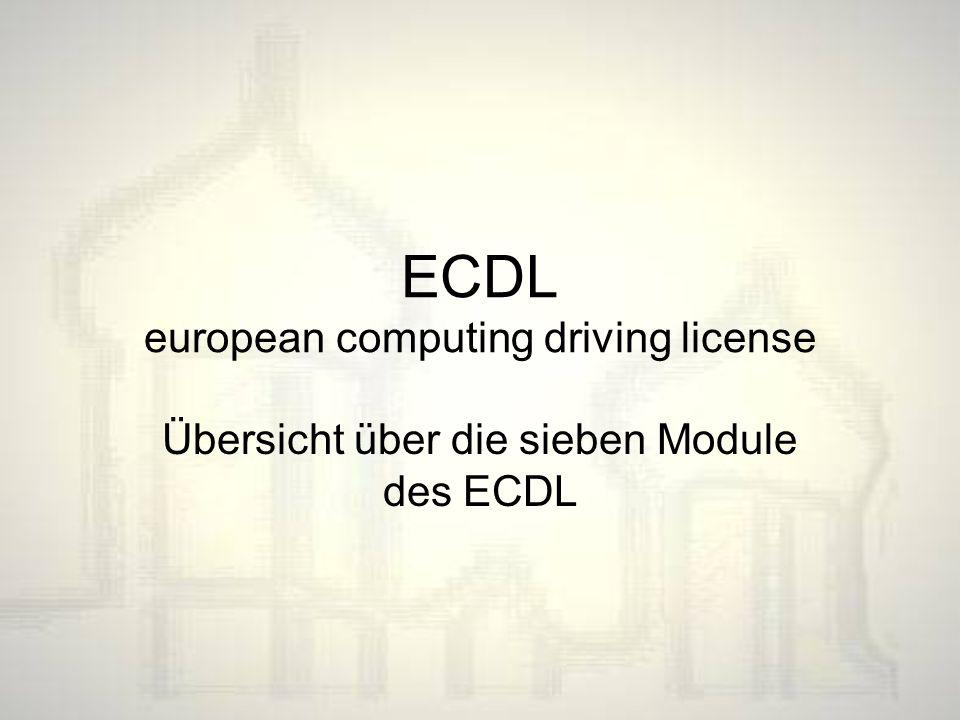 ECDL european computing driving license