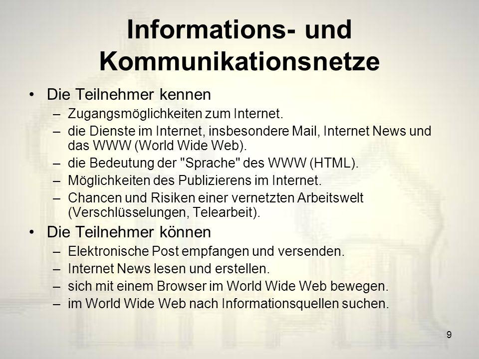 Informations- und Kommunikationsnetze
