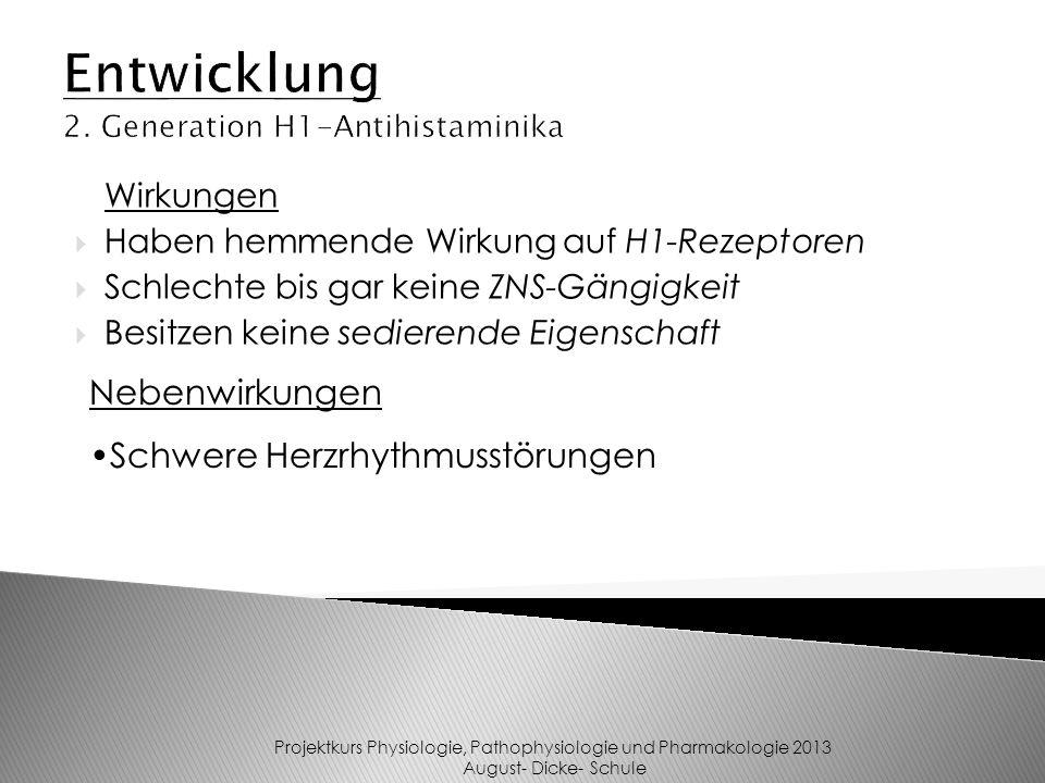 Entwicklung 2. Generation H1-Antihistaminika