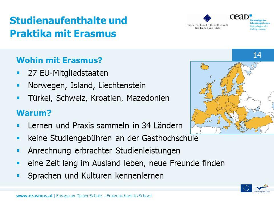 Studienaufenthalte und Praktika mit Erasmus