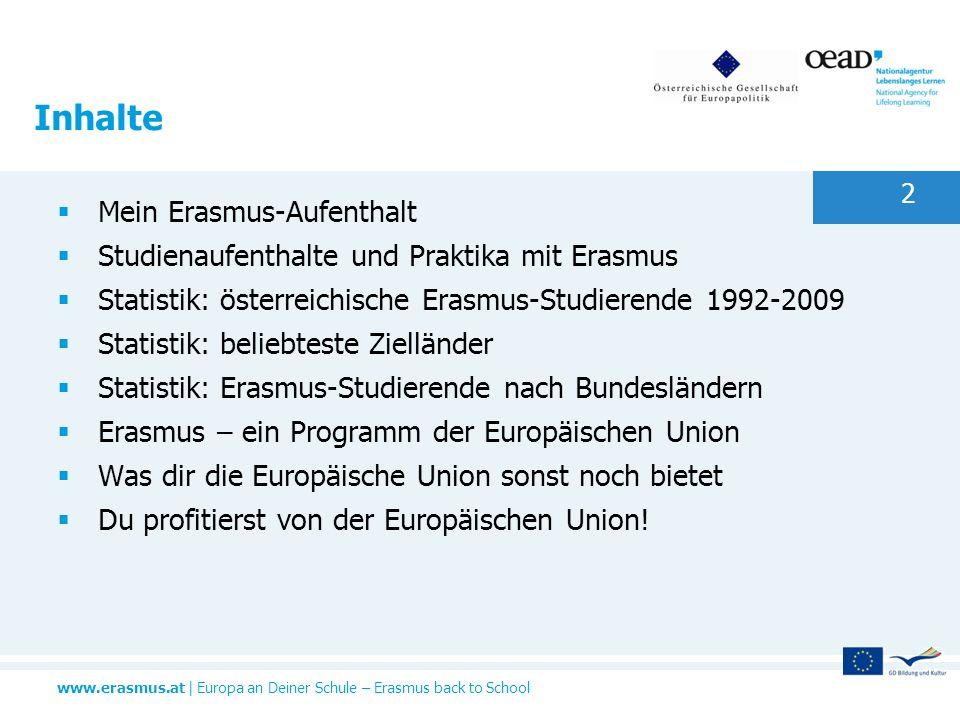Inhalte Mein Erasmus-Aufenthalt