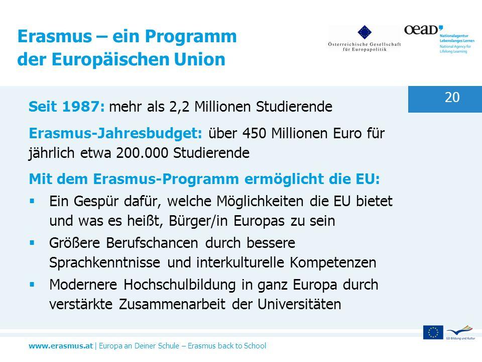 Erasmus – ein Programm der Europäischen Union