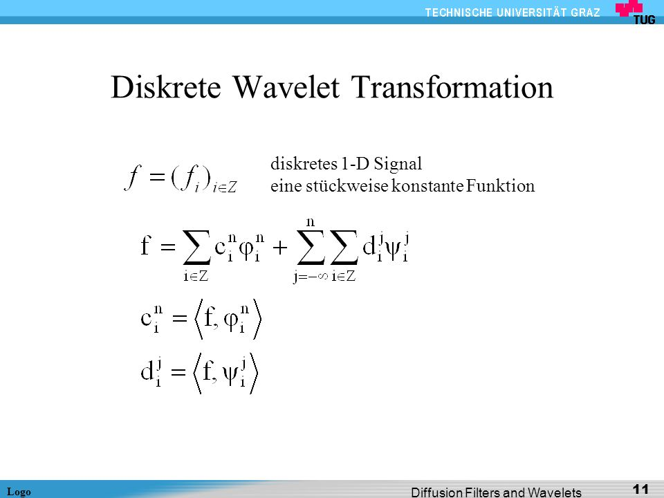 Diskrete Wavelet Transformation