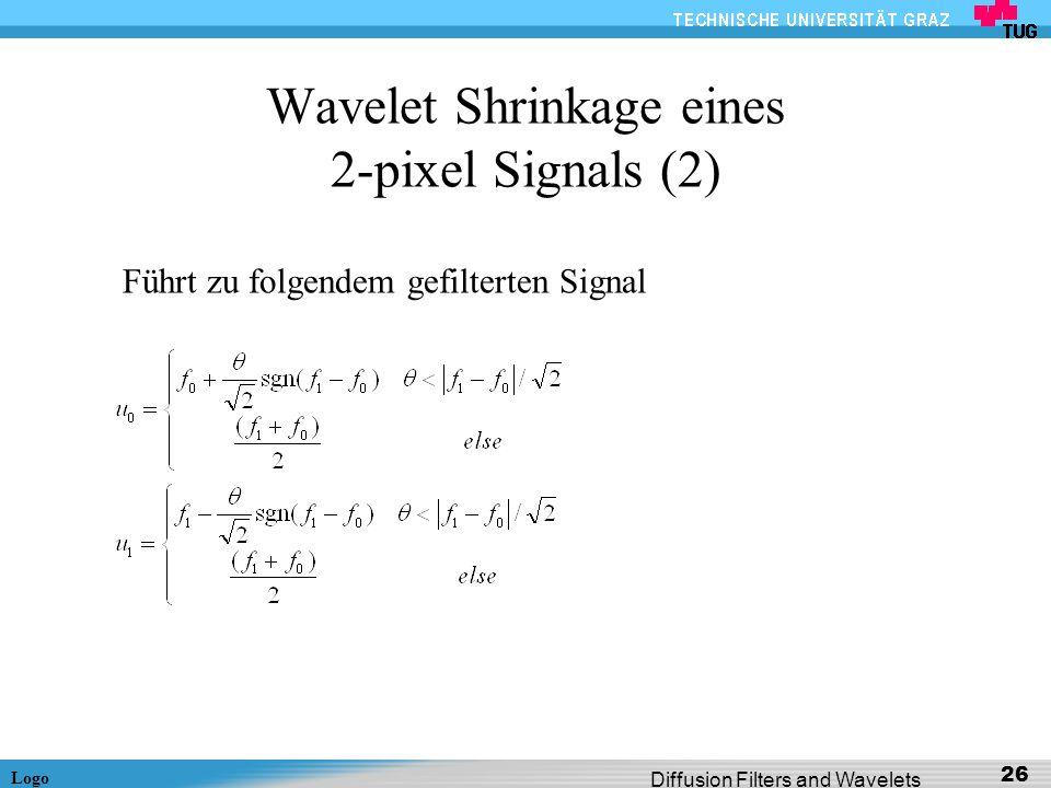 Wavelet Shrinkage eines 2-pixel Signals (2)