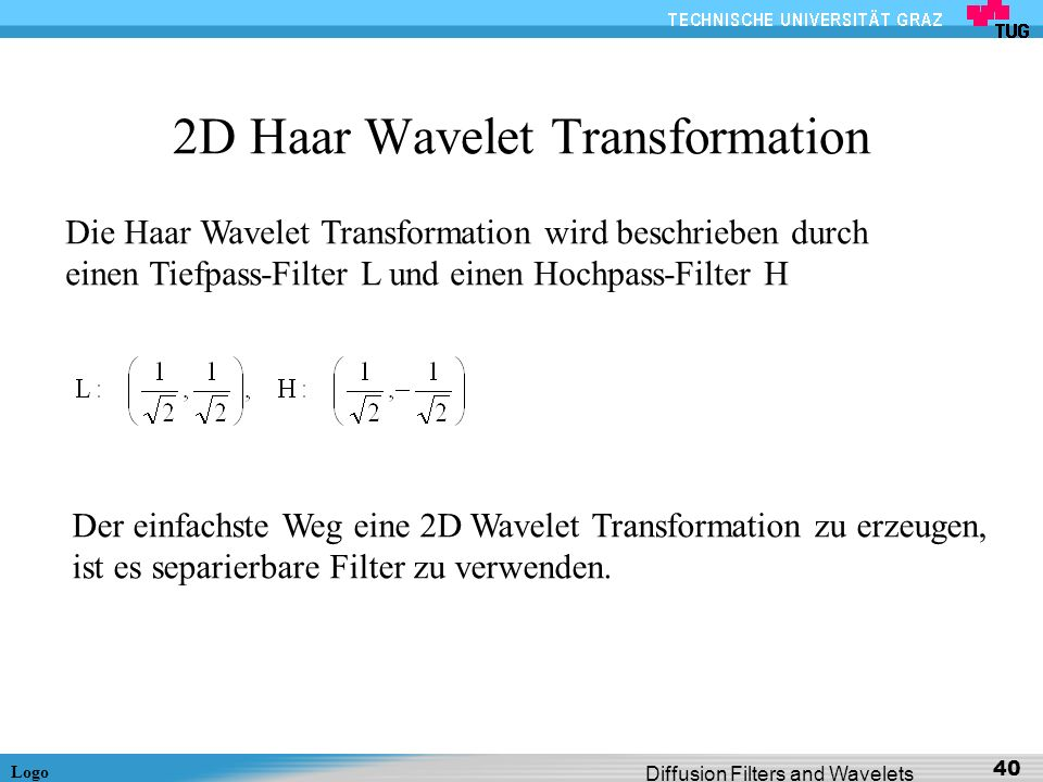 2D Haar Wavelet Transformation