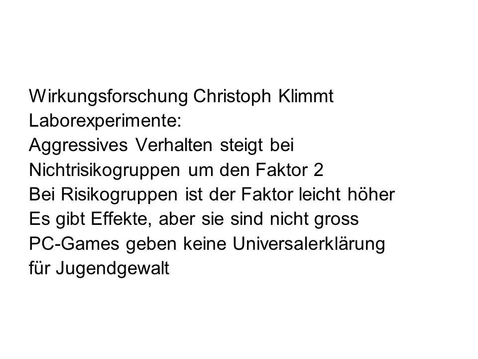 Wirkungsforschung Christoph Klimmt