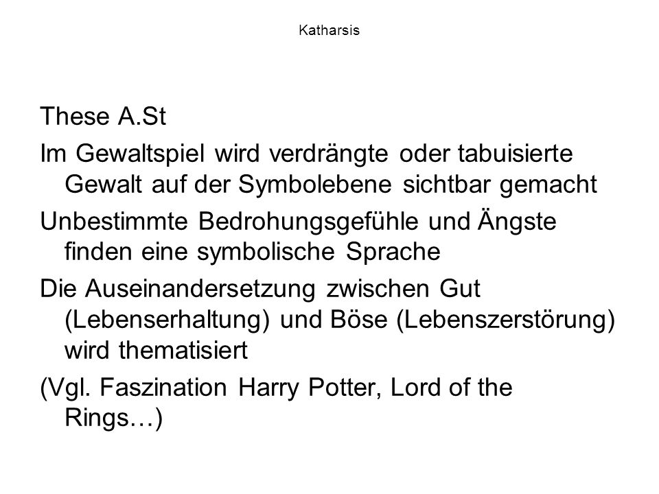 (Vgl. Faszination Harry Potter, Lord of the Rings…)