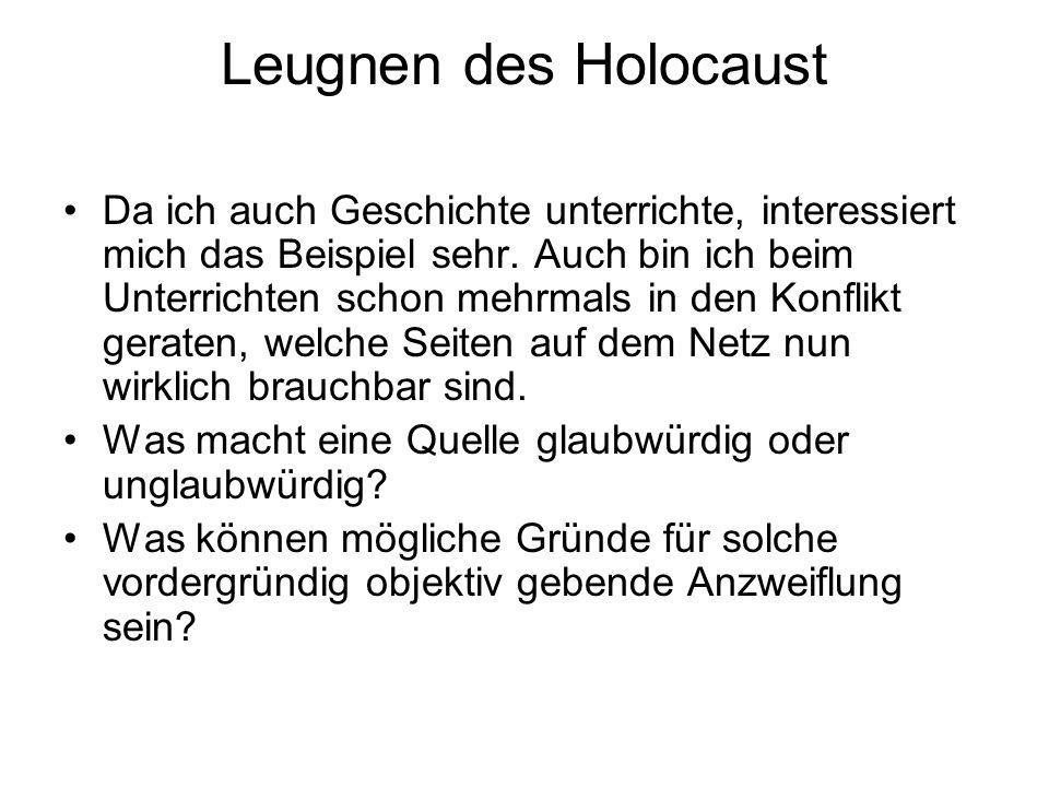 Leugnen des Holocaust