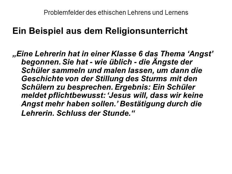 thema angst religionsunterricht