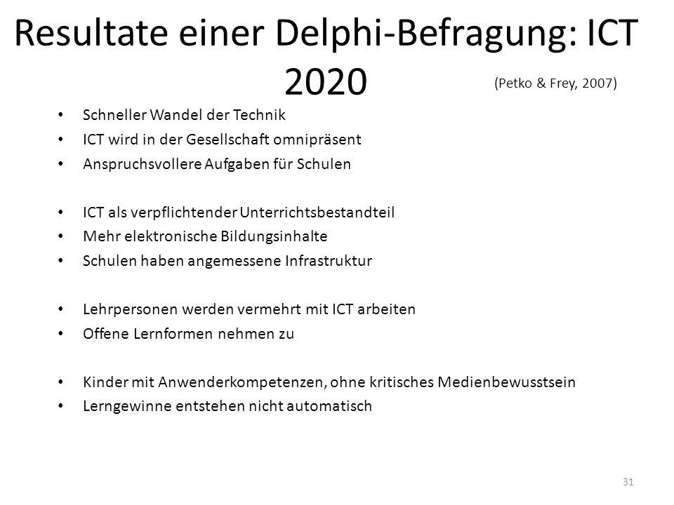 Resultate einer Delphi-Befragung: ICT 2020