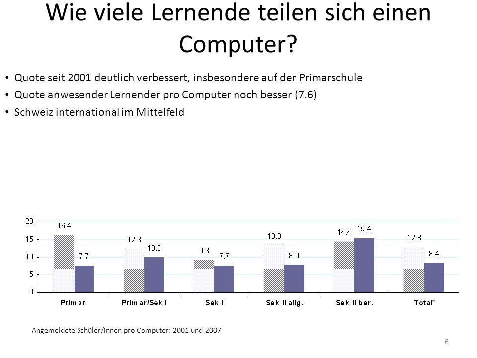 Wie viele Lernende teilen sich einen Computer