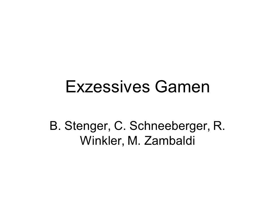 B. Stenger, C. Schneeberger, R. Winkler, M. Zambaldi