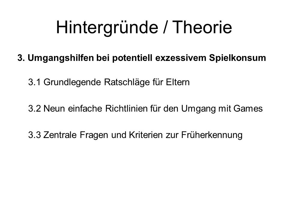 Hintergründe / Theorie