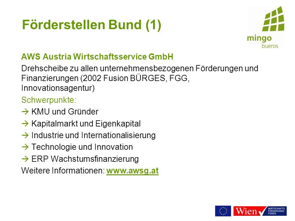 Förderstellen Bund (1) AWS Austria Wirtschaftsservice GmbH