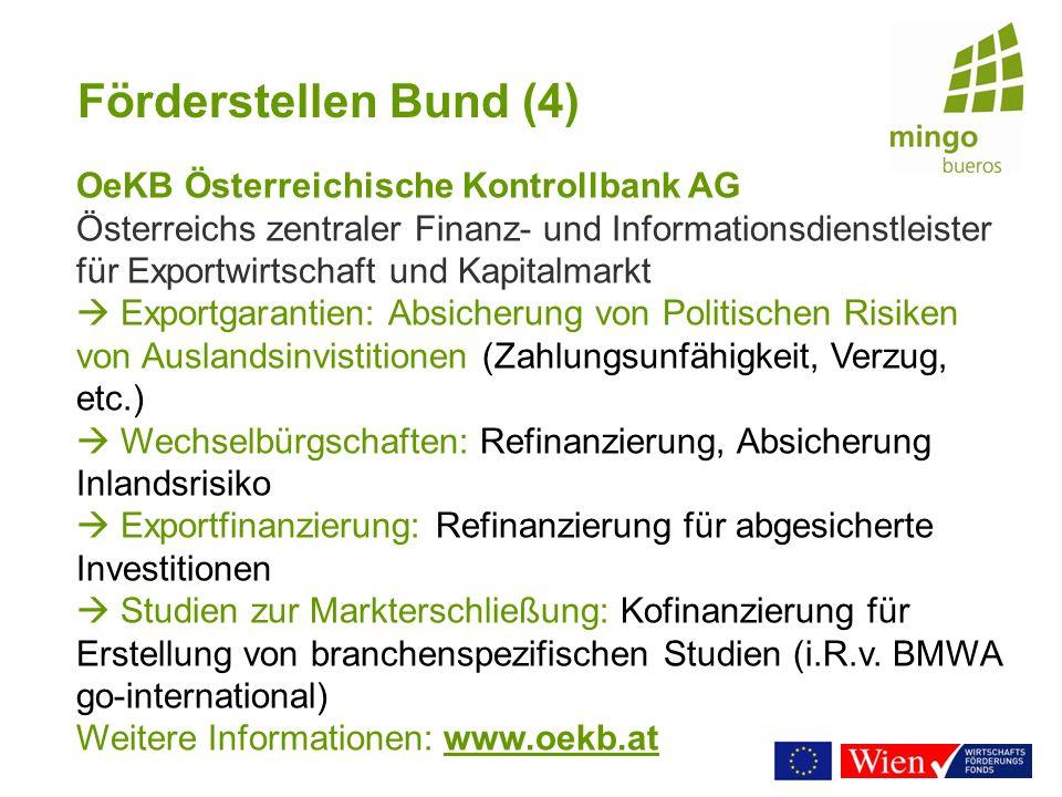 Förderstellen Bund (4) OeKB Österreichische Kontrollbank AG.