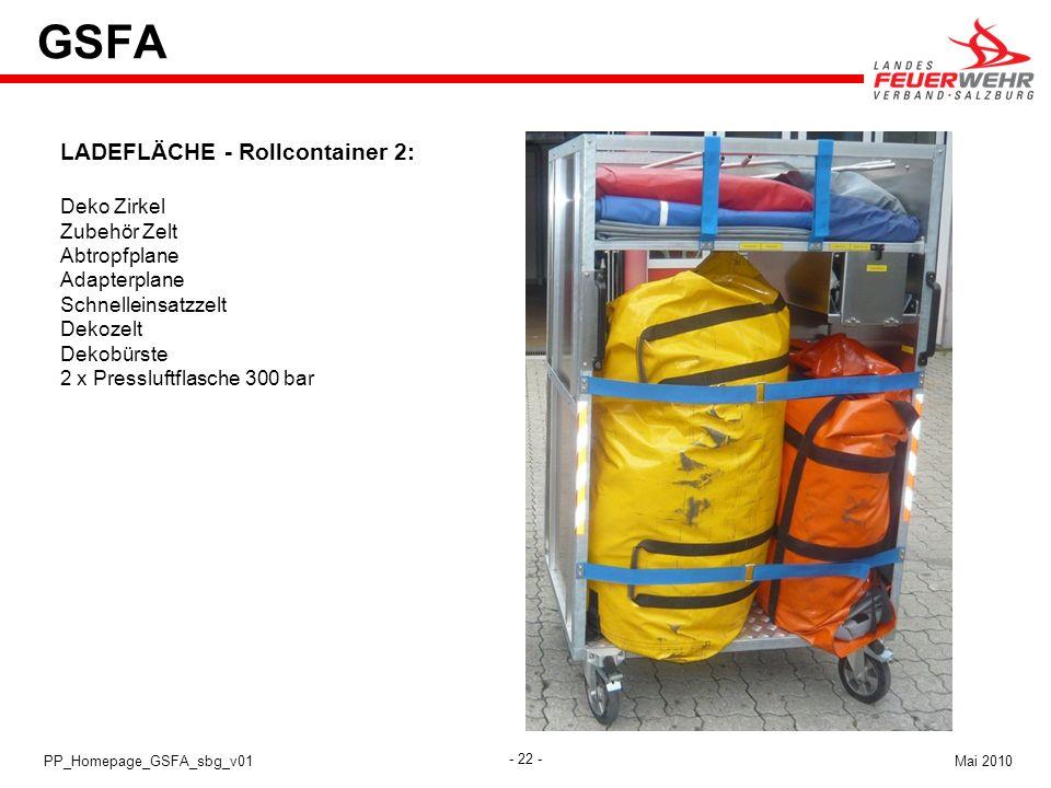GSFA LADEFLÄCHE - Rollcontainer 2: Deko Zirkel Zubehör Zelt