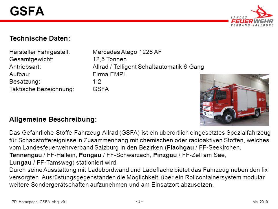 GSFA Technische Daten: Allgemeine Beschreibung: