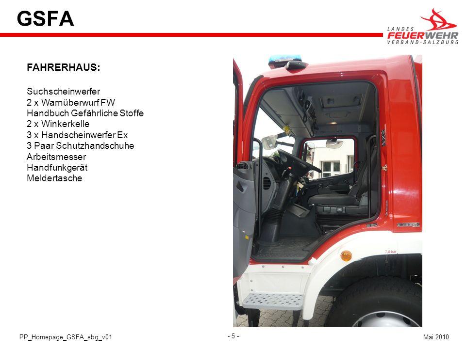 GSFA FAHRERHAUS: Suchscheinwerfer 2 x Warnüberwurf FW