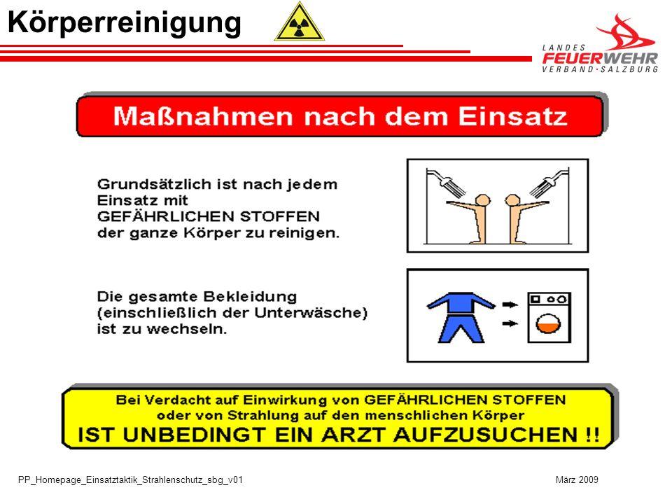 Körperreinigung PP_Homepage_Einsatztaktik_Strahlenschutz_sbg_v01 März 2009