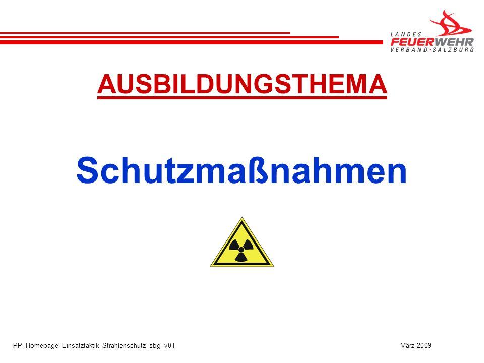 Schutzmaßnahmen AUSBILDUNGSTHEMA