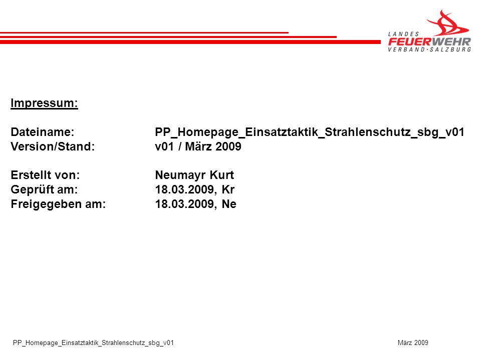 Dateiname: PP_Homepage_Einsatztaktik_Strahlenschutz_sbg_v01