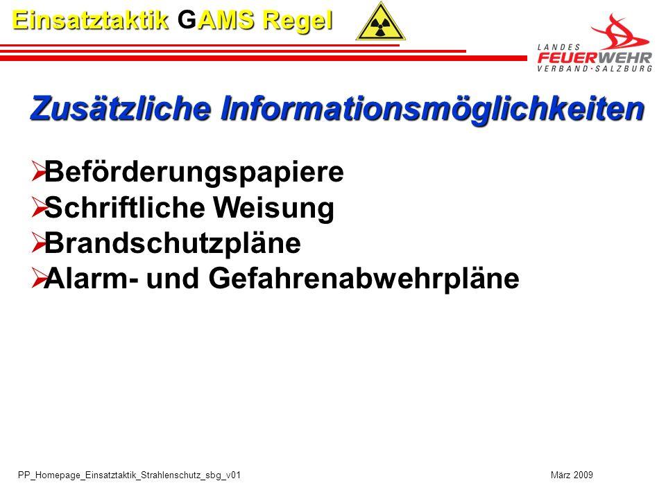 Zusätzliche Informationsmöglichkeiten