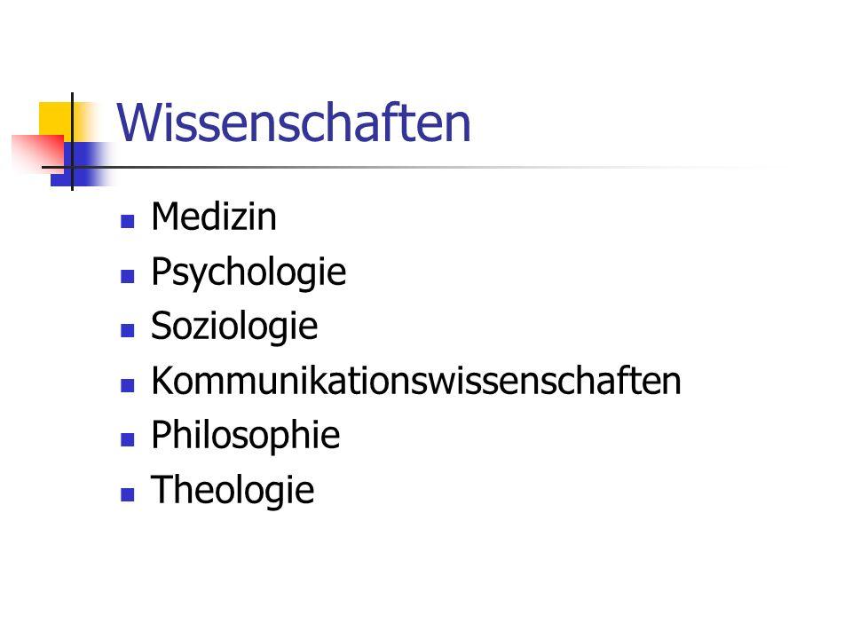 Wissenschaften Medizin Psychologie Soziologie