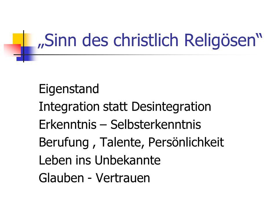 """""""Sinn des christlich Religösen"""