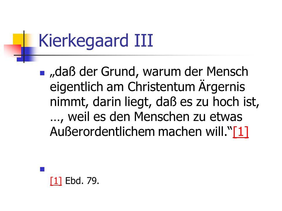 Kierkegaard III