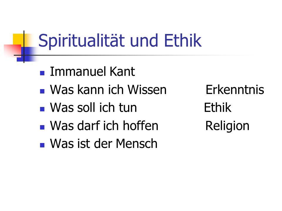 Spiritualität und Ethik