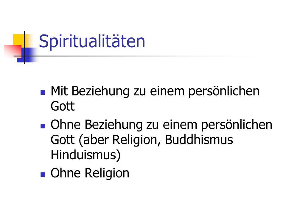 Spiritualitäten Mit Beziehung zu einem persönlichen Gott