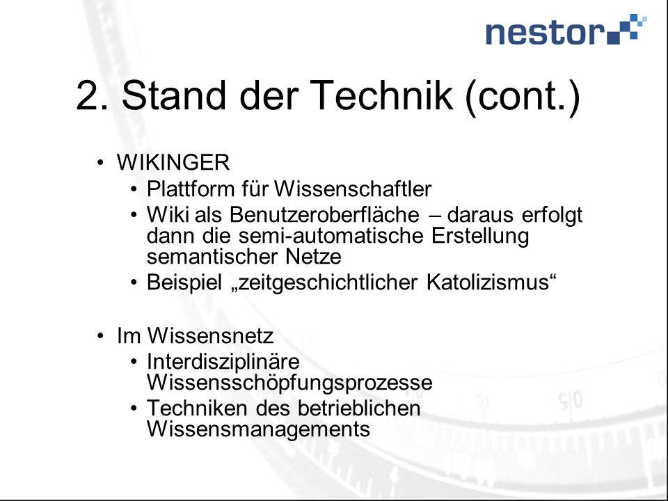 2. Stand der Technik (cont.)
