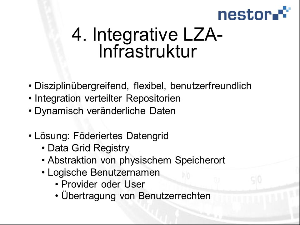 4. Integrative LZA-Infrastruktur