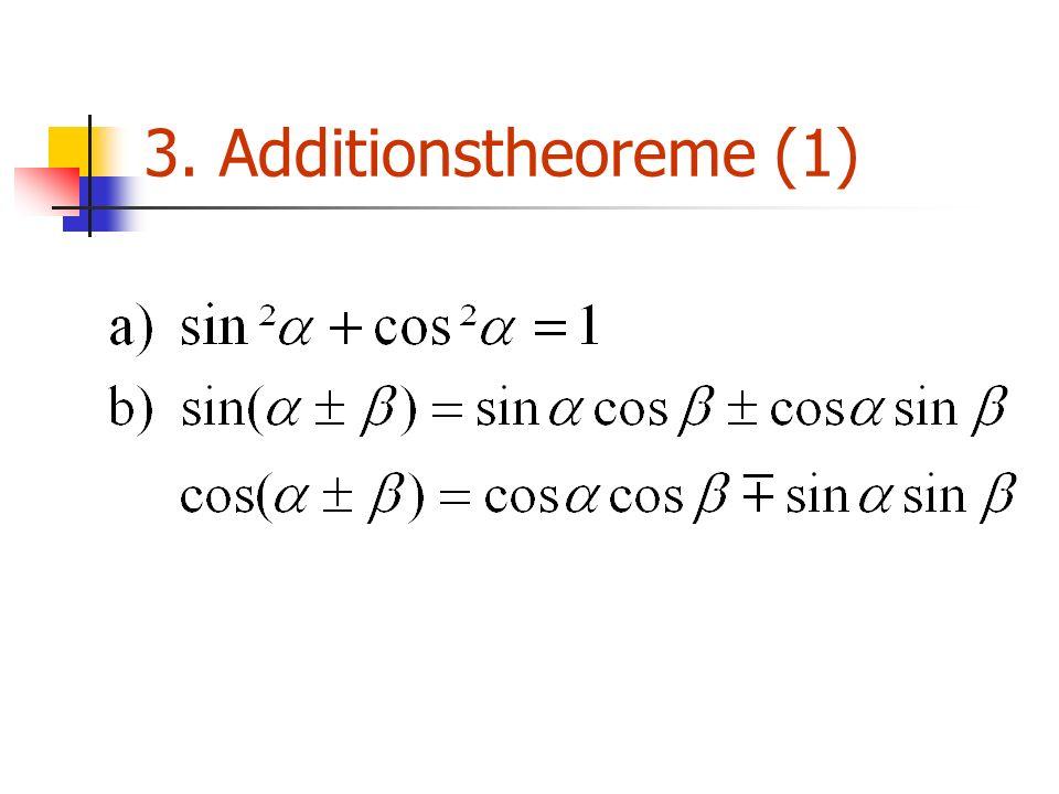 3. Additionstheoreme (1)