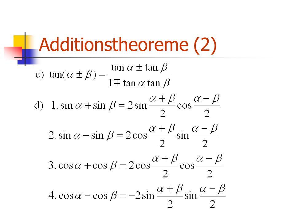 Additionstheoreme (2)