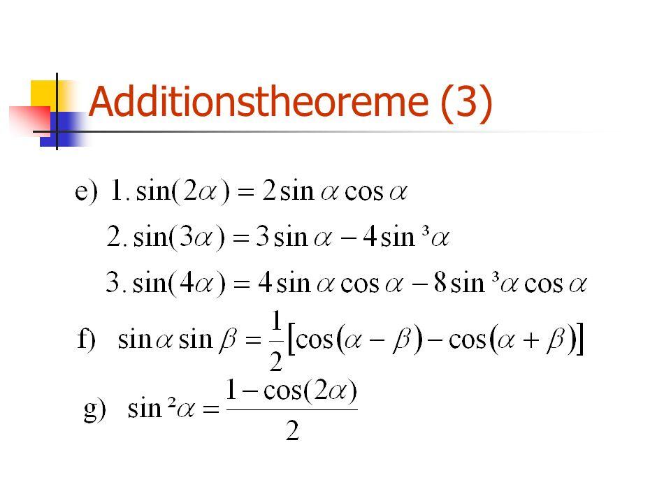 Additionstheoreme (3)