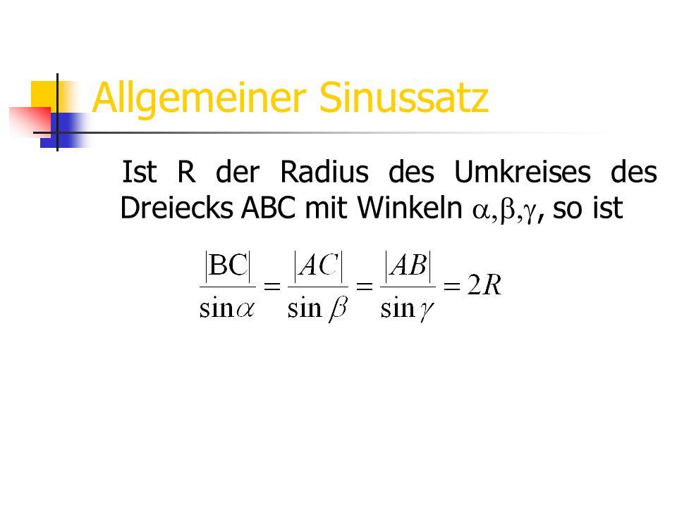 Allgemeiner Sinussatz