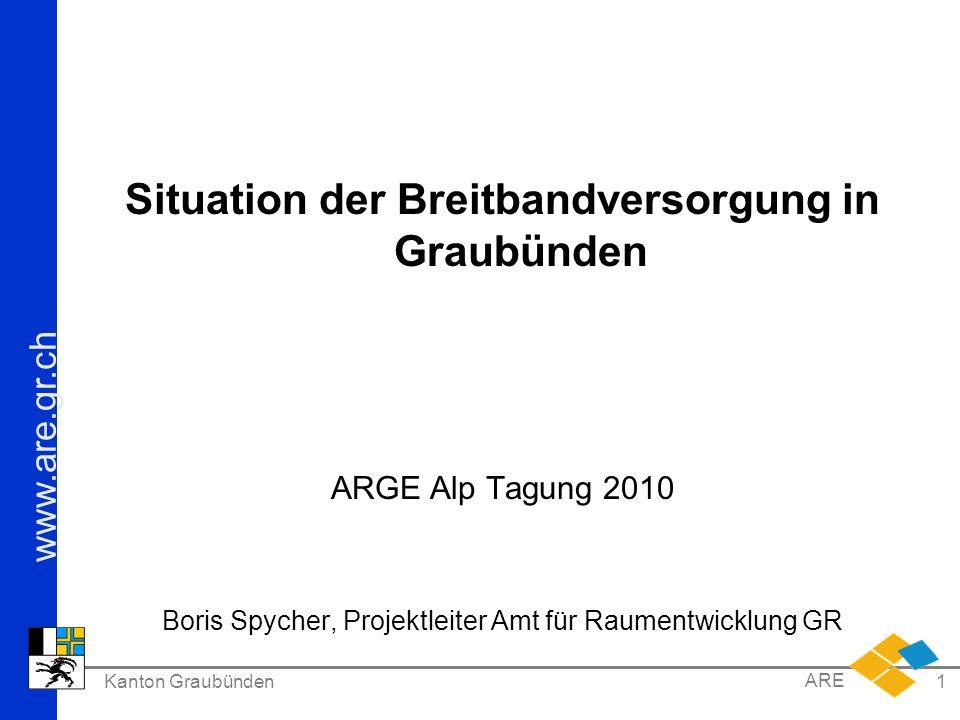 Situation der Breitbandversorgung in Graubünden