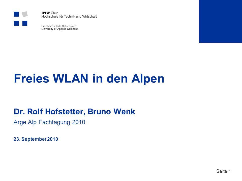 Freies WLAN in den Alpen Dr