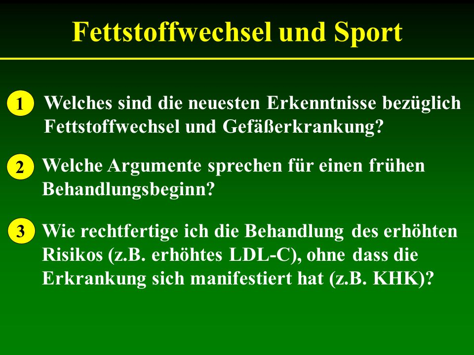 Fettstoffwechsel und Sport