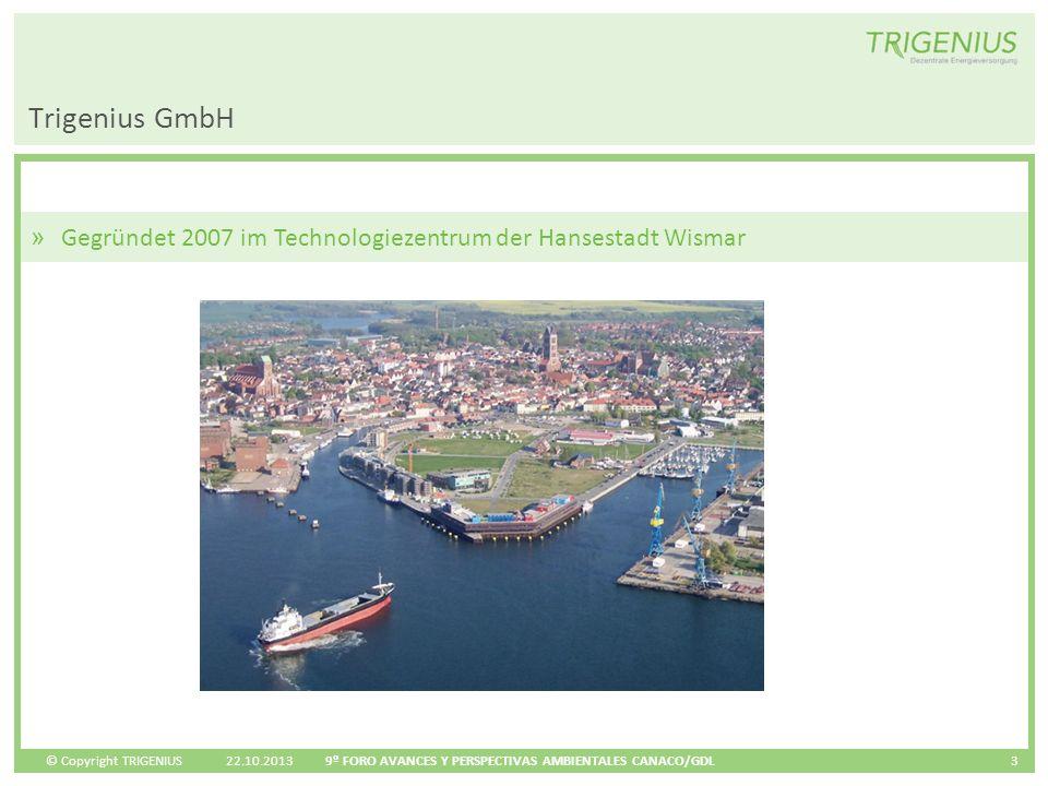 Trigenius GmbH Gegründet 2007 im Technologiezentrum der Hansestadt Wismar.