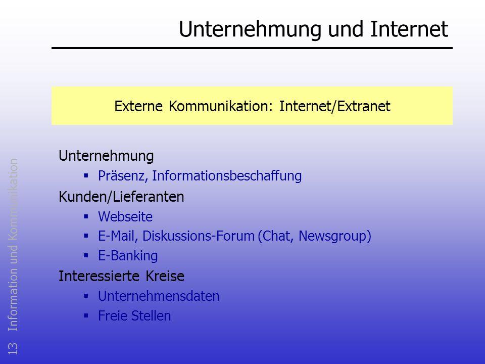 Unternehmung und Internet