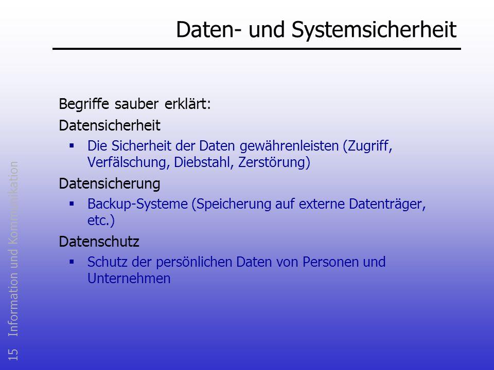 Daten- und Systemsicherheit