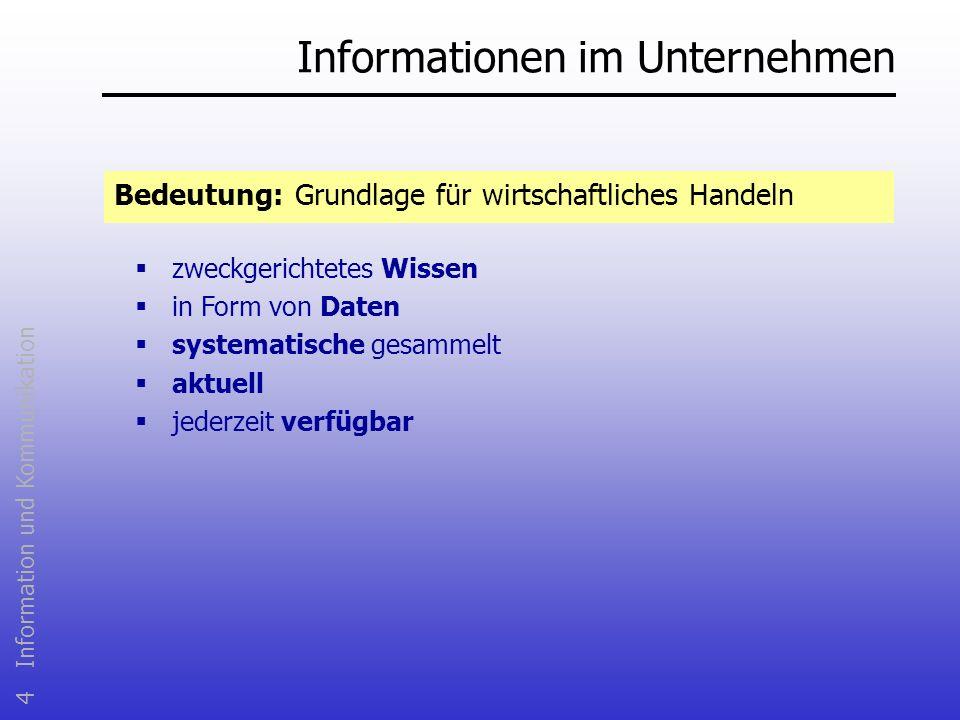 Informationen im Unternehmen