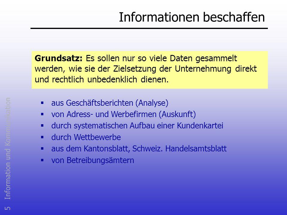 Informationen beschaffen
